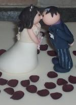 Hand Modelled Bride and Groom