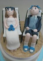 Bride and Groom in Deckchairs
