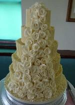 Chocolate and rose wedding cake Ref  CW045