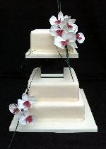 Orchid Wedding Cake Ref IC122