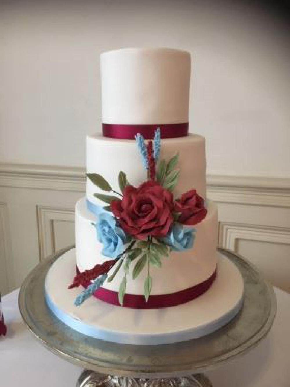 Elegant three tier cake