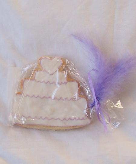 Wedding Cake Cookie Favour