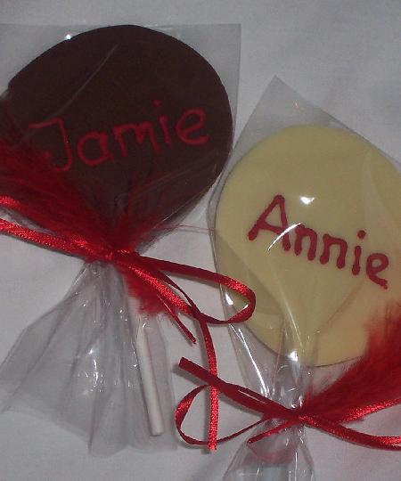 Chocolate Lollipop Favour